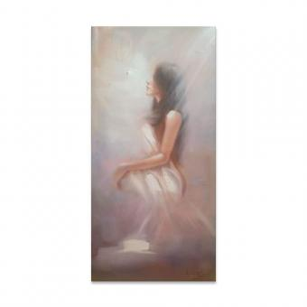 Handmade Woman Oil Painting Canvas