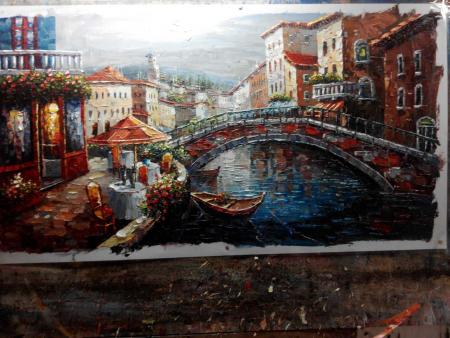 Venice Bridge of Sighs Landscape Oil Paintings