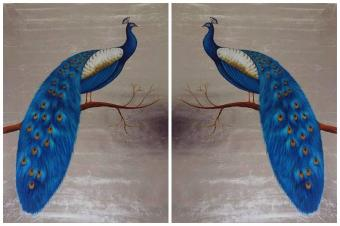 Gallery Wrap Peacock Group Oil Paintings