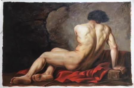 Nude Man Art Paintings